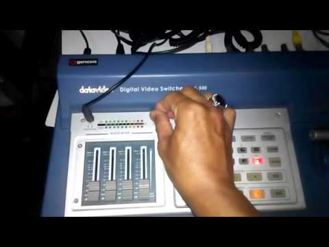 Testing Digital video SE-500 video mixer