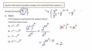 MathCamp321: PARCC (Algebra 2) Practice Test - Question 4