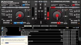 Mezclando En Vivo Cumbia Peruana  2011 Virtual DJ 7  - DJDaryl