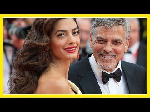 Amal und george clooney gehen auf nummer sicher