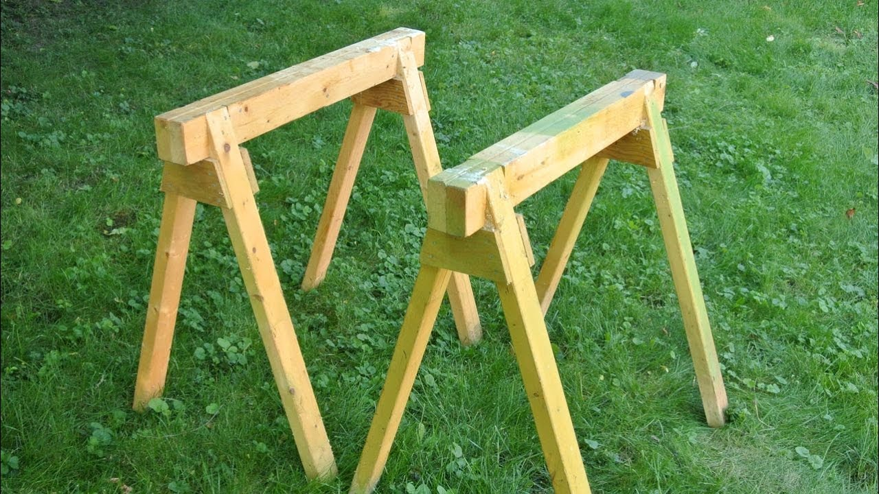 Building sawhorses - YouTube