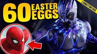PANTERA NEGRA - 60 Easter Eggs, Referencias y Cameos de la Película! Luineitor!