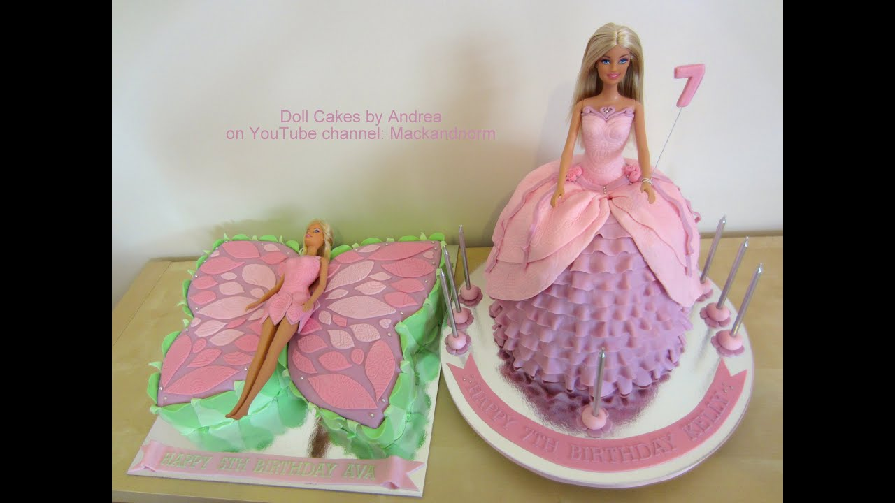 Make A Princess Doll Birthday Cake