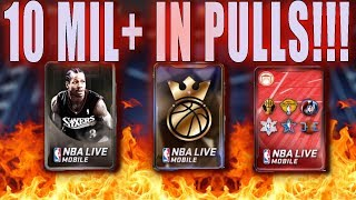 MONSTER FREE KINGS OF THE COURT PACKS OPENING! MILLIONS IN PULLS! LITTY LIT! NBA LIVE MOBILE KOTC!