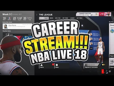 NBA LIVE 18 CAREER MODE STREAM! WE GOT THE GAME EARLY + 350K CRATE OPENING WITH MY WING SCORER