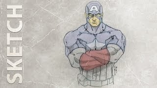 How to draw Captain America ★ HD sketch