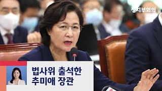"""추미애 """"막강한 검찰 권력…민주적 통제 반드시 필요"""" / JTBC 정치부회의"""