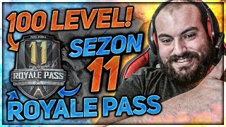 SEZON 11 ROYALE PASS 100 LEVEL YAPTIM  - PUBG MOBİLE