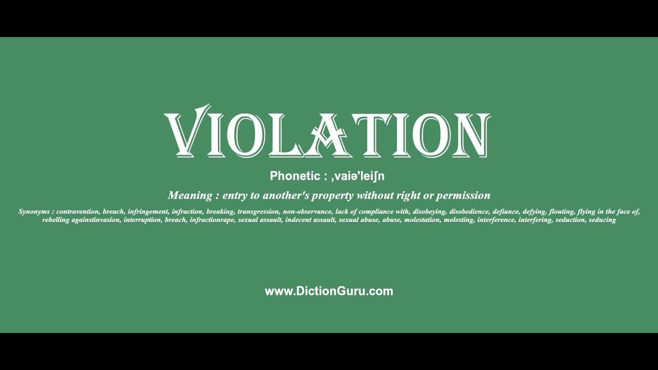 Flagrant Definition Sentence