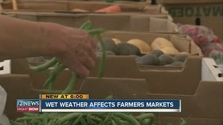 Wet weather affects Farmers Markets
