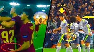 Football stars touching each others butt (featuring - cristiano ronaldo , james rodriguez , neymar )