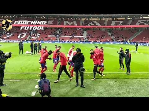 CALENTAMIENTO de futbol pre-partido Atlético de Madrid✅