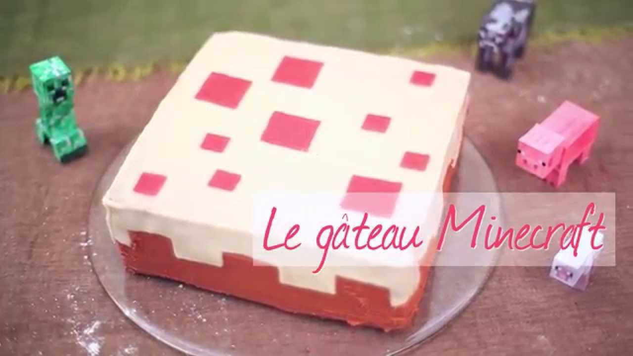 Gateau simple minecraft