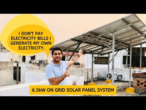Solar System for Home | 6.5kW On Grid Solar System | Solar Panel System Price, Subsidy and Working