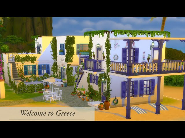 Greek style building | The Sims 4 House Building |