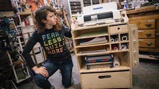 Custom Cricut Maker Vinyl Cutter Workshop Cart!