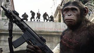 大猩猩杀入城市,抢夺军火,还将人类关进笼子!速看科幻电影《猩球崛起2:黎明之战》