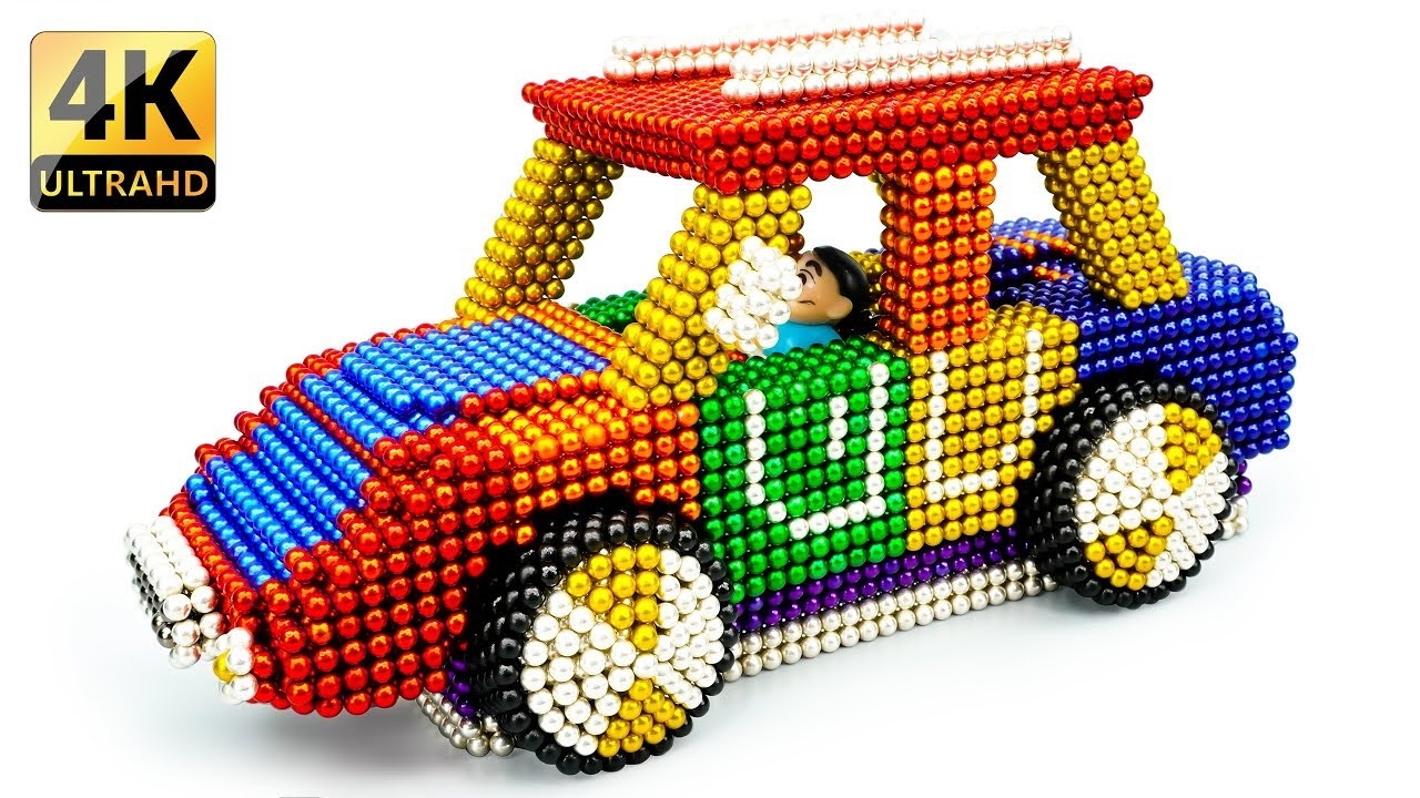 DIY - How To Build MINI Countryman Car From Magnetic Balls (Satisfaction) - Magnet Balls