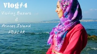 Istanbul Vlog #4 - Visiting Bazars & Princes Island Adalar | Houda Noussi