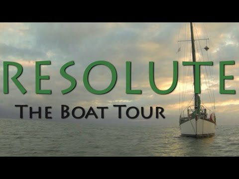 A boat tour of our Cascade 36 Sailboat - Resolute Sets Sail