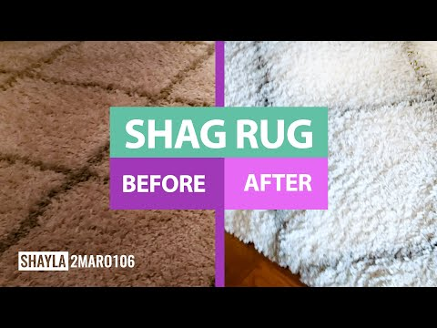 Detailed Cleaning Shag Rug | Clean With Me