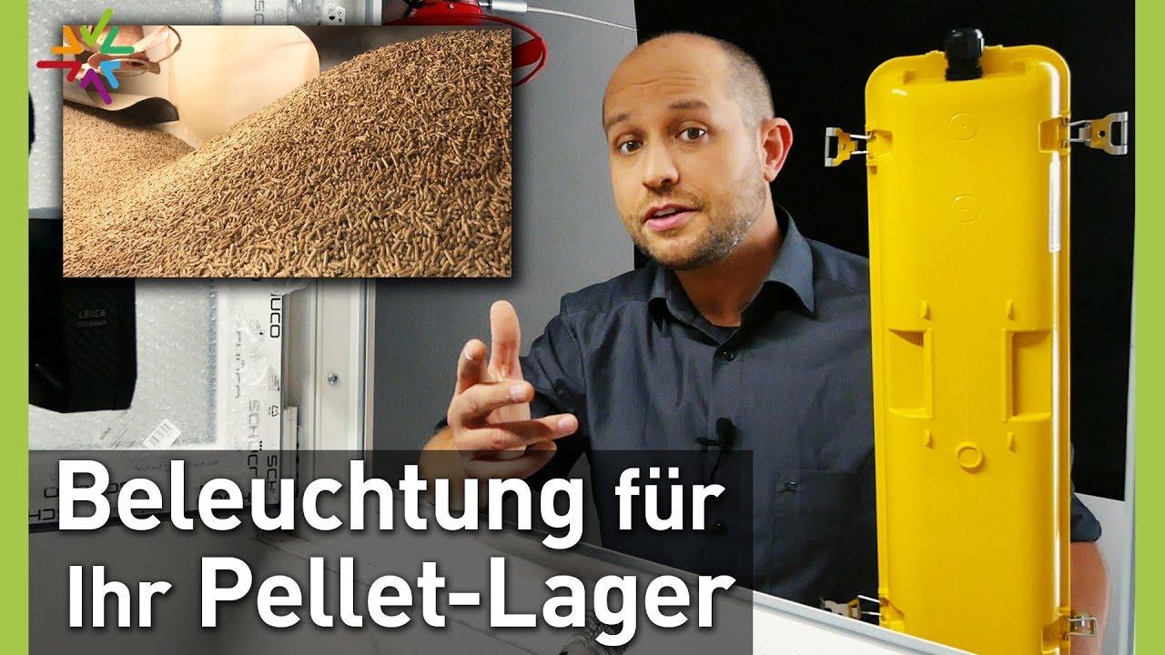 LED Beleuchtung für Pellet-Lager und Hackschnitzel-Bunker - Ex-Leuchten Zalux Acquex