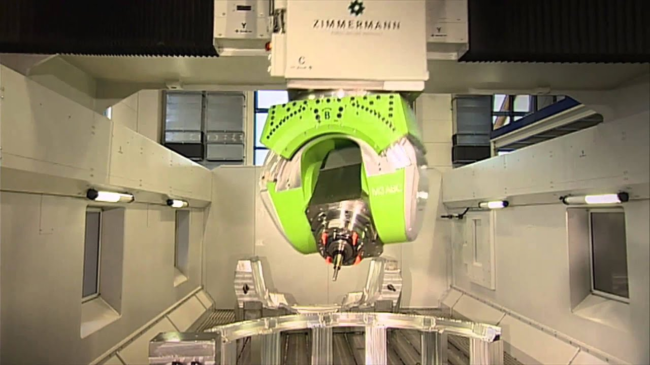 Zimmermann FZ100 Portalfräsmaschine - YouTube
