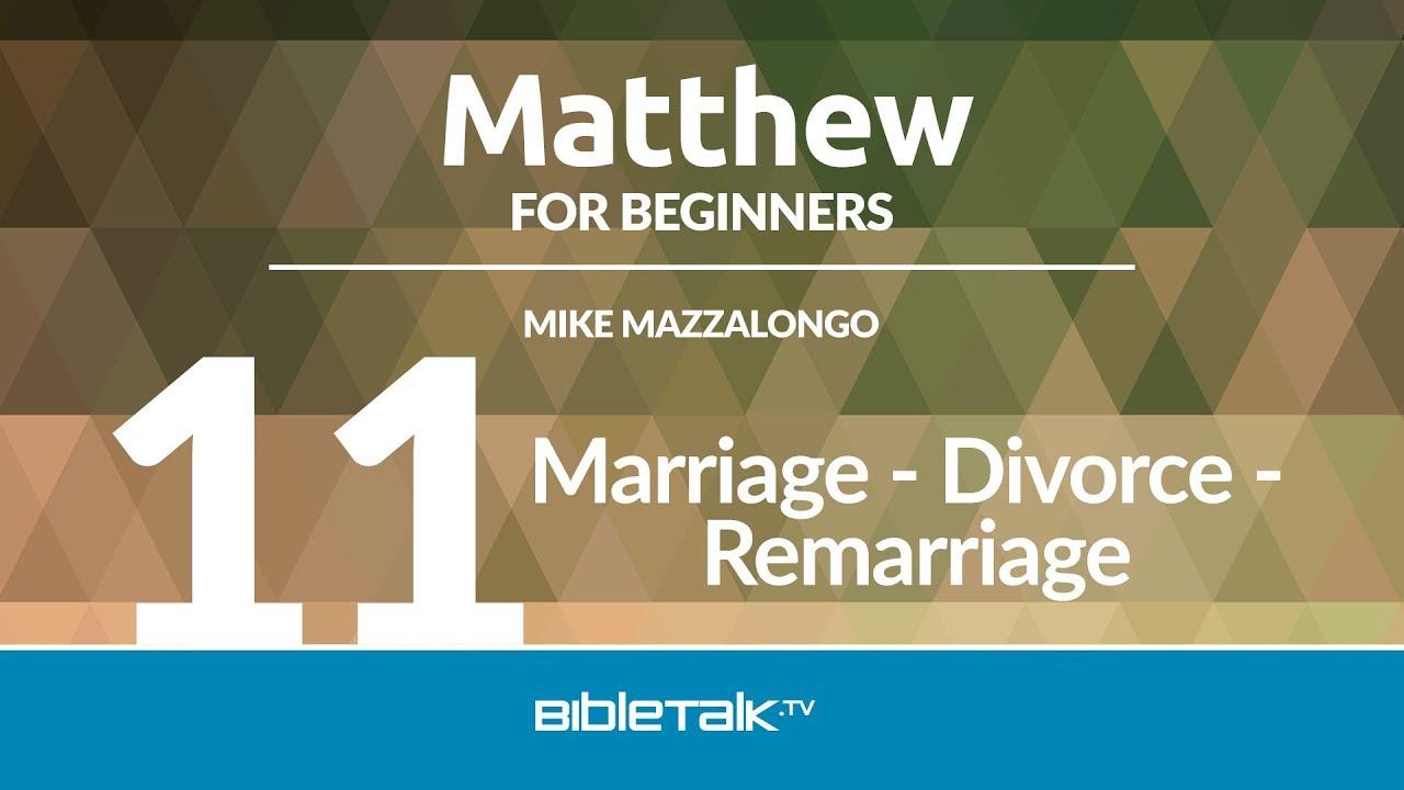 Marriage - Divorce - Remarriage