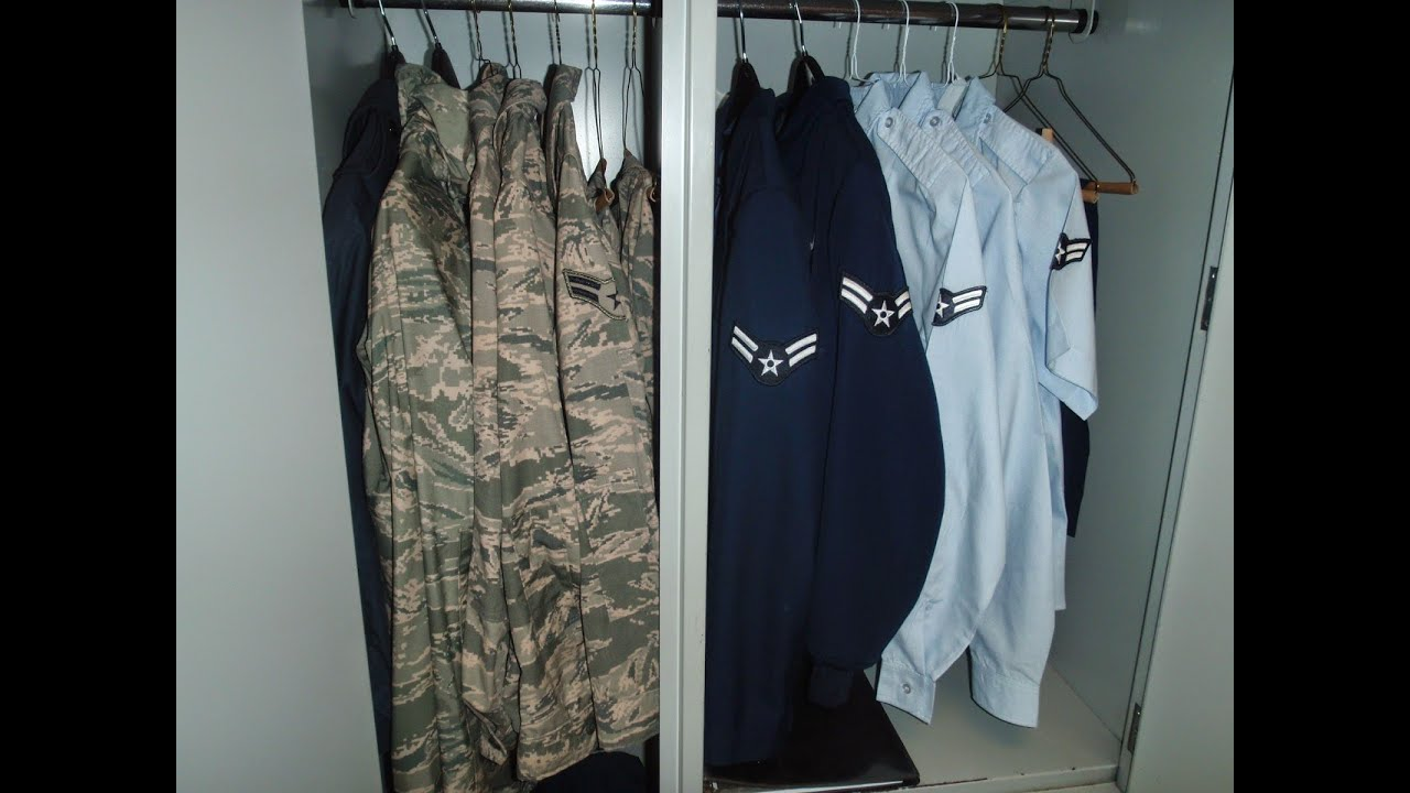 Air Force BMT Guide: Wall Locker Inspections - YouTube