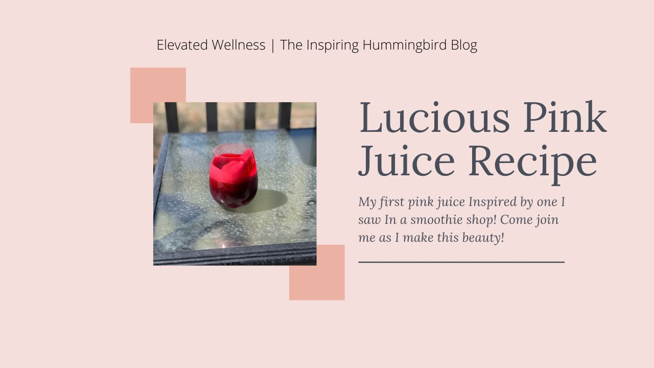 Lucious Pink Drink Recipe
