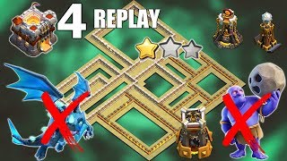 4 REPLAYS !! BEST TH11 War Base 2019 Anti 2 Star Anti Electro Dragon Anti Bowler Clash of Clans