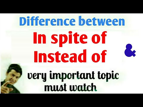Use of instead of & in spite of   How to speak Fluent English   spoken English by Alam
