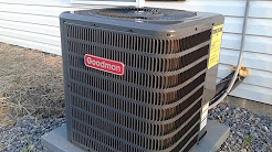 Goodman Central Air conditioner GXS13 running on a warm day