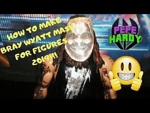 HOW TO MAKE BRAY WYATT MASK THE FIEND 2019 DIY!! WWE ACTION FIGURE PEPE HARDY