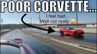 2018 MUSTANG GT destroys HELLCAT/ CORVETTE/ TRACKHAWK...then BREAKS DOWN!