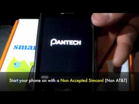 How to Unlock Pantech Crossover P8000 Phone by Unlock Code Pantech Unlocking Instructions At&t