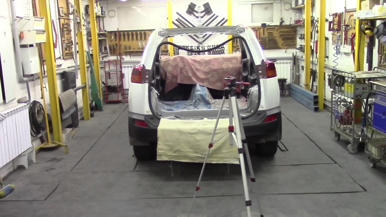Кузовной ремонт. Тойота RAV4, замена кровли 2. Body repair.
