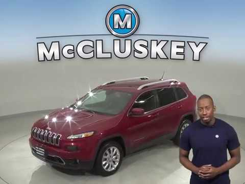 A12814YT Used 2015 Jeep Cherokee Limited 4WD Red SUV Test Drive, Review, For Sale -
