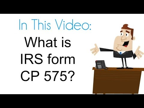 What Is Irs Form Cp 575 Youtube