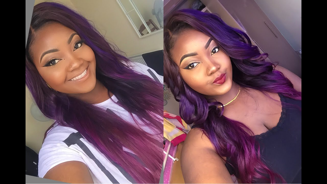How I Colouredbleachdye My Purple Hair Justine Skye Inspired