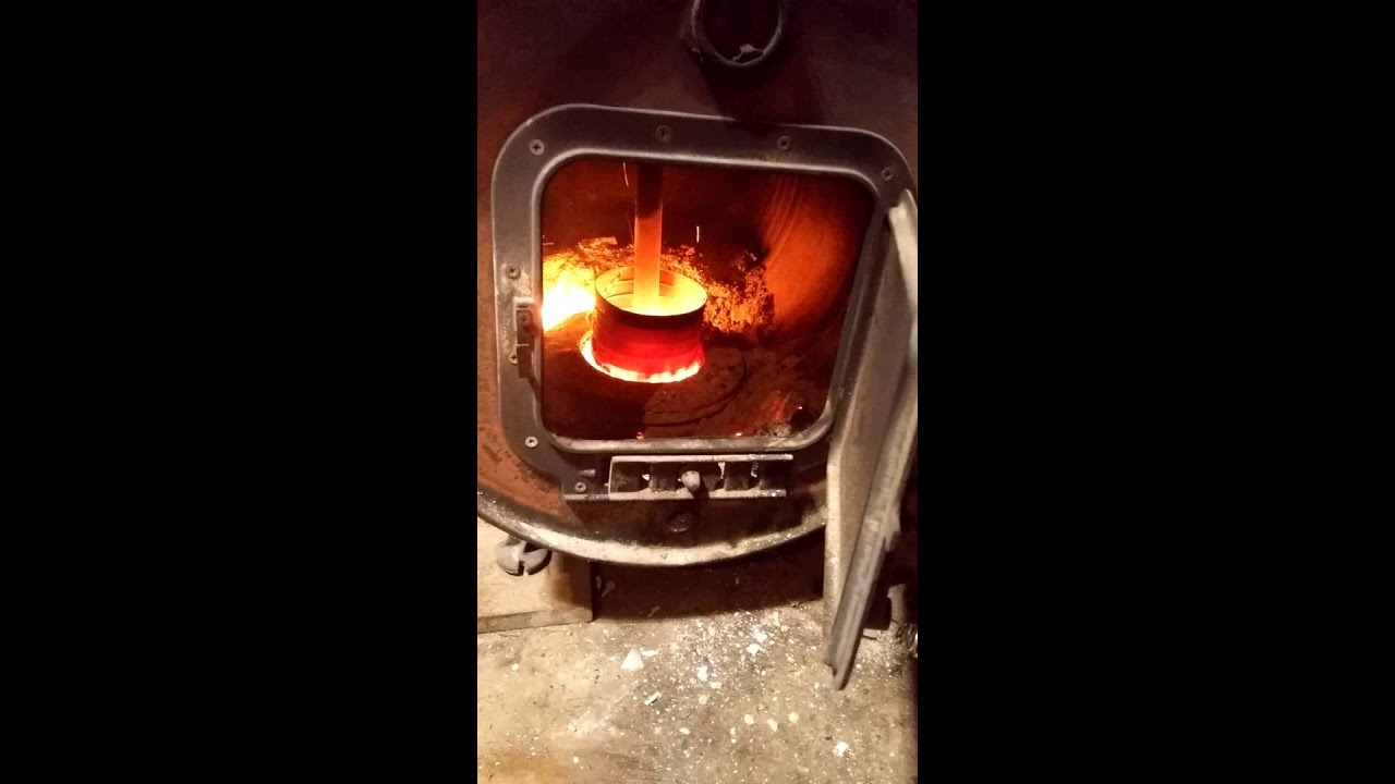 Wood Burning Barrel Stove Converted To A Waste Oil Youtube