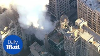 Shocking aerial footage shows massive steam pipe explosion in NYC - Daily Mail