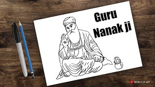 Drawing Guru Nanak jayanti for kids | guru nanak | how to draw