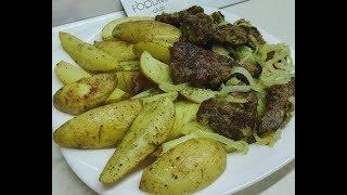 Печень с картошкой: рецепт от Foodman.club