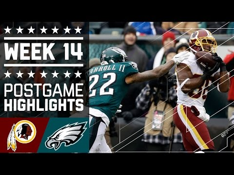 Redskins vs. Eagles | NFL Week 14 Game Highlights
