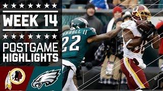 Redskins vs. Eagles | NFL Week 14 Game Highlights