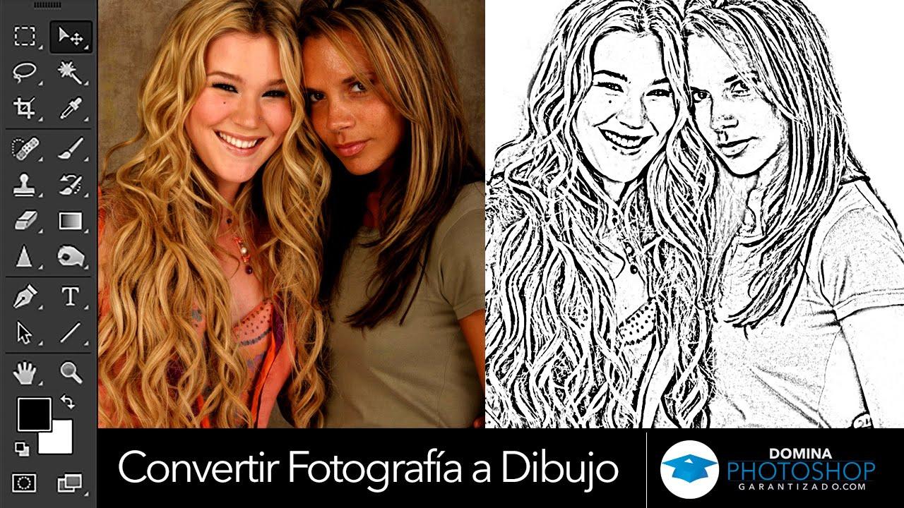 Convertir Una Fotografia A Dibujo En Photoshop Youtube