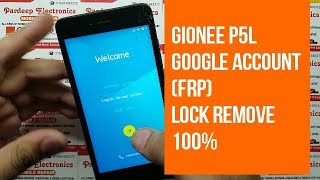 gionee p5L google account (frp) lock remove 100% || Pardeep Electronics