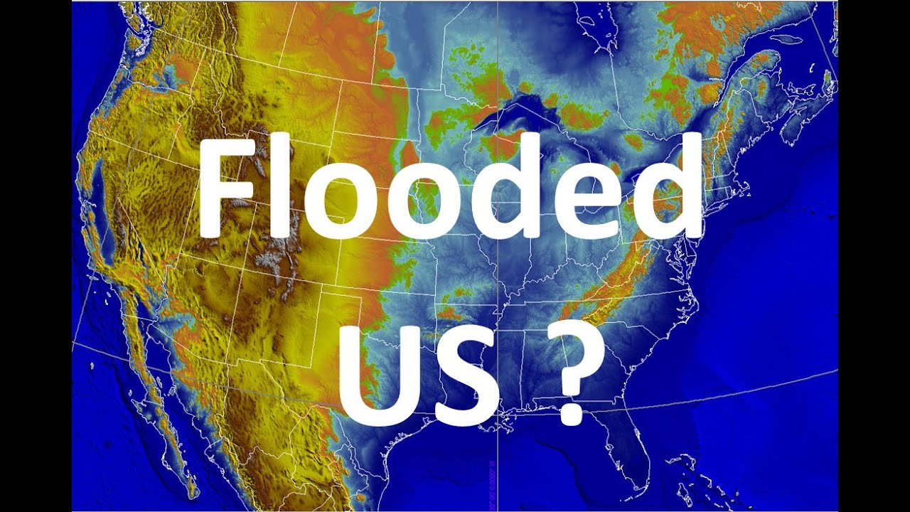 Where US Would Be Flooded If A Pole Shift Reaches IGEOTV YouTube - Edgar cayce future us map