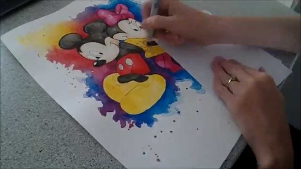 Minnie and Mickey Mouse Splash - Speed painting by Fiona ...